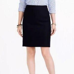 "J. Crew Black ""The Pencil Skirt"" Wool Blend Skirt"
